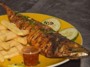 Bibis Grill Mackerel Fish With a side