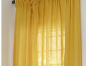 75 By 75 Quality Sheer Curtain  YELLOW