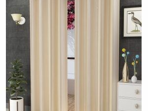 High Quality Curtains With Rings  CREAM COLOUR