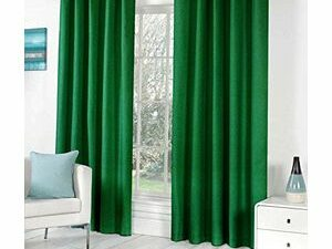High Quality Curtains With Rings  GREEN