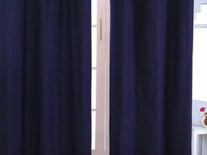 High Quality Curtains With Rings  NAVY BLUE