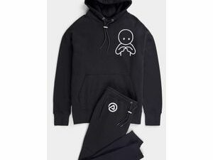 Elvin Black Hoodie And Jogger With Logo
