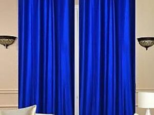 High Quality Curtains With Rings  ROYAL BLUE