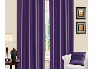 High Quality Curtains With Rings  PURPLE