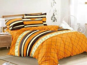 Patterned DUVET Bed Sheet And 4Pillowcase  Multi