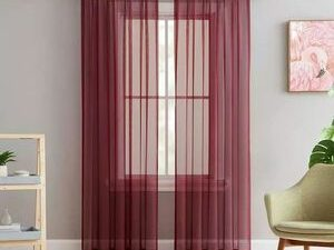 75 By 75 Quality Sheer Curtain  WINE