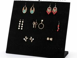 120 Holes Luxurious Velvet Earrings And Studs Display Stand Jewelry Organizer And Display Rack