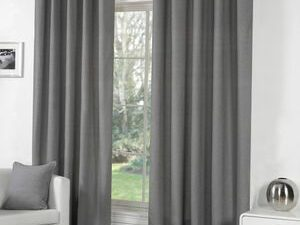 High Quality Curtains With Rings  GRAY