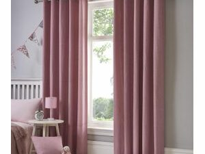 High Quality Curtains With Rings  PINK